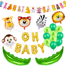 Jungle Party Animal Foil Balloons Zoo Theme Birthday Decoration Kids Safari Decor