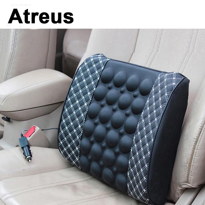Atreus12V For Lexus Honda Civic Opel astra h j Mazda 3 6 Kia Rio Ceed Volvo Lada Car Seat Pillow Massage Lumbar Support Cushion