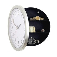 SOLEDI 2017 Creative Hidden Secret Wall Clock Safe Horloge Muralemoney Stash Money Jewelry Storage Box Container