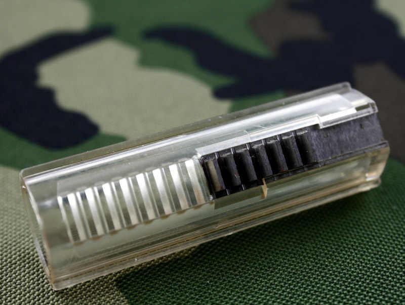 Усиленный пластиковый корпус сталь 7 зубьев прозрачный поршень для страйкбола AEG Коробка передач Ver 2/3-бесплатная доставка
