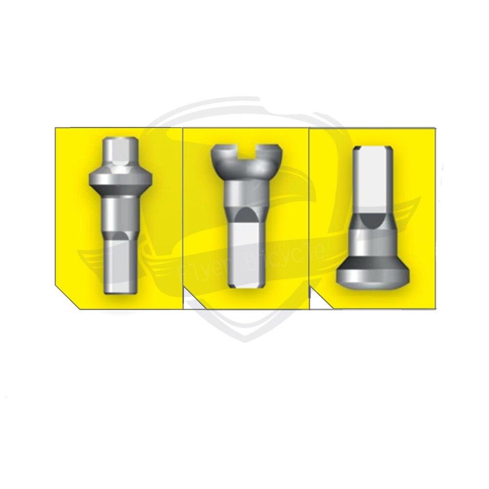 Pillar Hex Aluminium Nipple Red 14G 12mm 72pcs