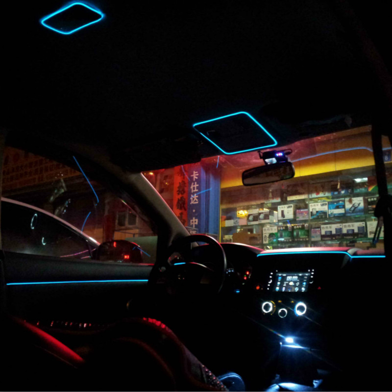 Universal 3M 10 Colors Car Styling Flexible Neon EL Light Car Decoration Strip with Cigarette lighter