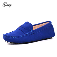 GRWG 2019 New Arrival Casual Womens Shoes Genuine Leather Women Loafers Moccasins Fashion Slip On Women Flats Shoes