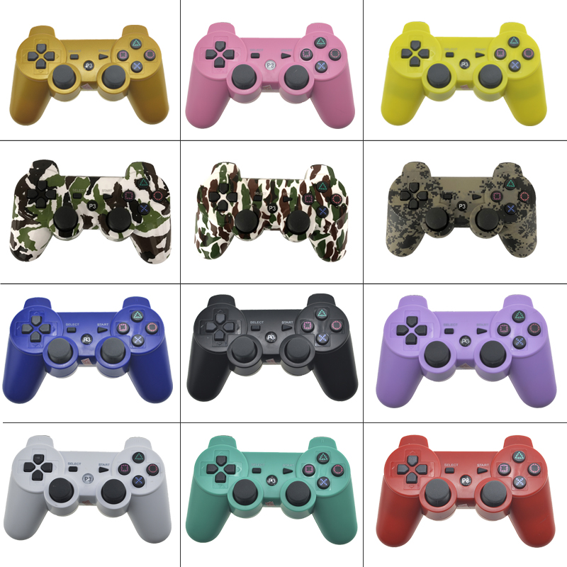 цена на For PS3 Wireless Bluetooth Controller For Play Station 3 Joystick Wireless Console Dual Vibration Gamepad