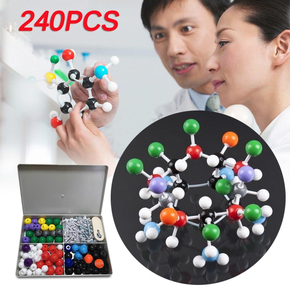 240Pcs Molecular Model Set Kit General and Organic Chemistry Atom Bonds Student Set For School Lab Teaching Research