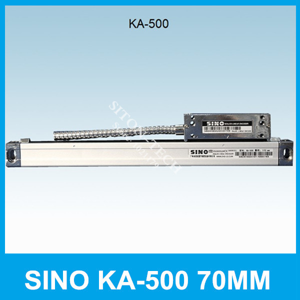 Free shipping SINO KA-500 70mm 5um 5V linear distance measurement  KA500 70mm optical scale for milling machine CNC lathe free shipping high precision easson gs11 linear wire encoder 850mm 1micron optical linear scale for milling machine cnc