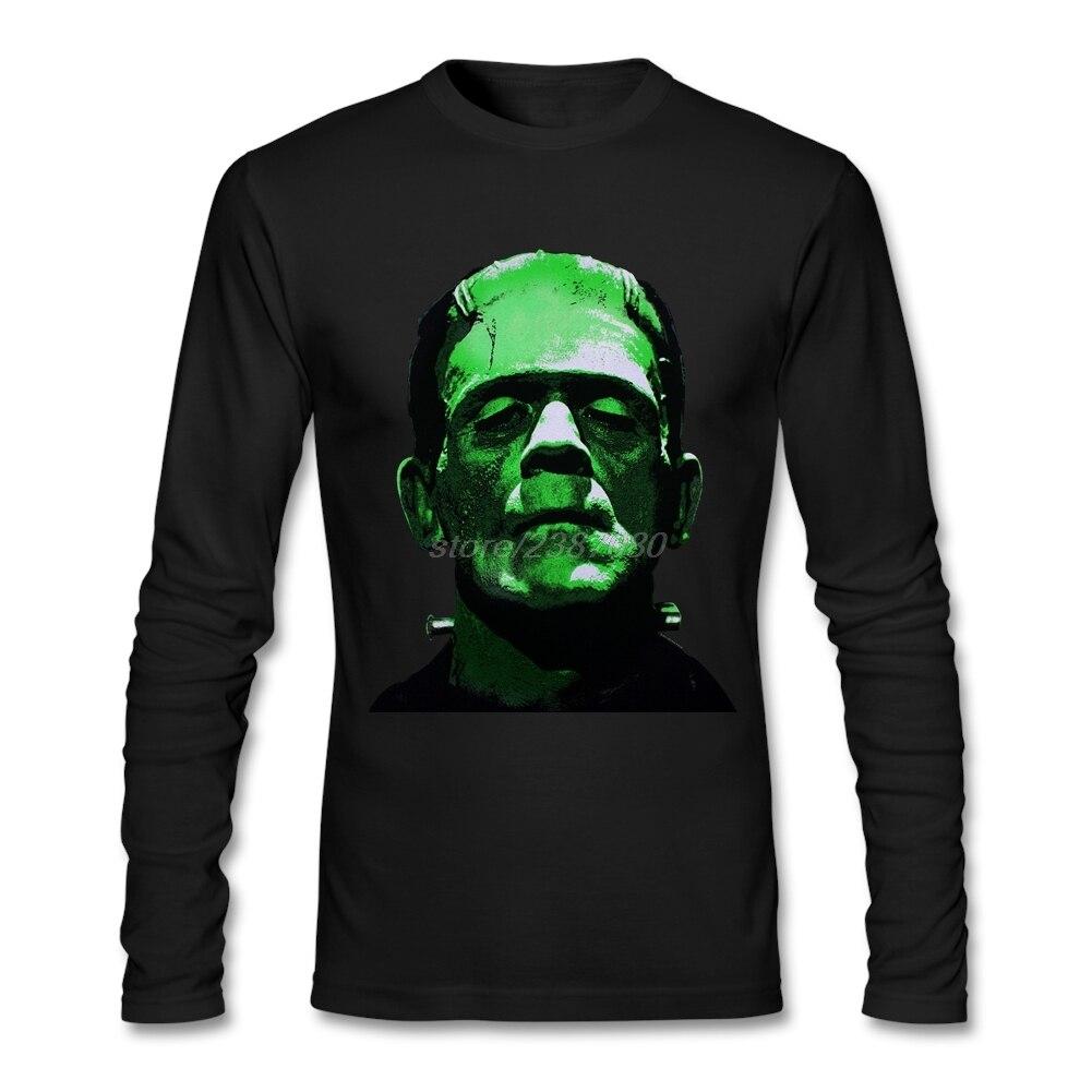 Shirt design generator - Customized T Shirt Creator Round Collar Men T Shirt Customized Frankenstein Head Monster Design Teenage Round Neck Shirt