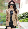 2016 resorte de la capa short trench coat mujeres prendas de vestir exteriores delgada women ' s doble trench