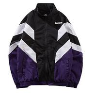 Retro Vintage Jacket Windbreaker Hip Hop Mens Jacket Coat Color Block Patchwork Casual Track Jacket Streetwear 2018 Autum Zip Up
