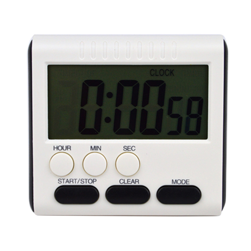 LCD Digital Timer Loud sound Kitchen Timer Cooking Timer Reminder Count Up Down Alarm Clock 24 Hours With Stand Kitchen Tool P2