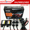 DC12V 55 W hid kit H4 bixenon kit Lastre Delgado H4-3 hi lo Bi xenón kit 6000 K 5000 K 8000 K 4300 K h4 bixenon faro car styling