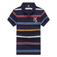 4359df98b Tace Shark Brand Polo Shirt Men Fashion Striped Cotton Breathable Camisa  Polo High Quality Business Polo