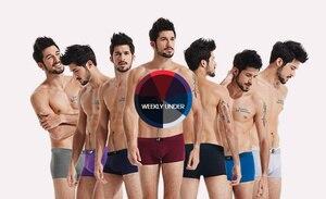 Image 4 - 7pcs/lot Brand Modal Boxer Men Underwear Colorful Modal Man Short Solid Flexible Shorts Boxer Pure Color Male Pants Sets