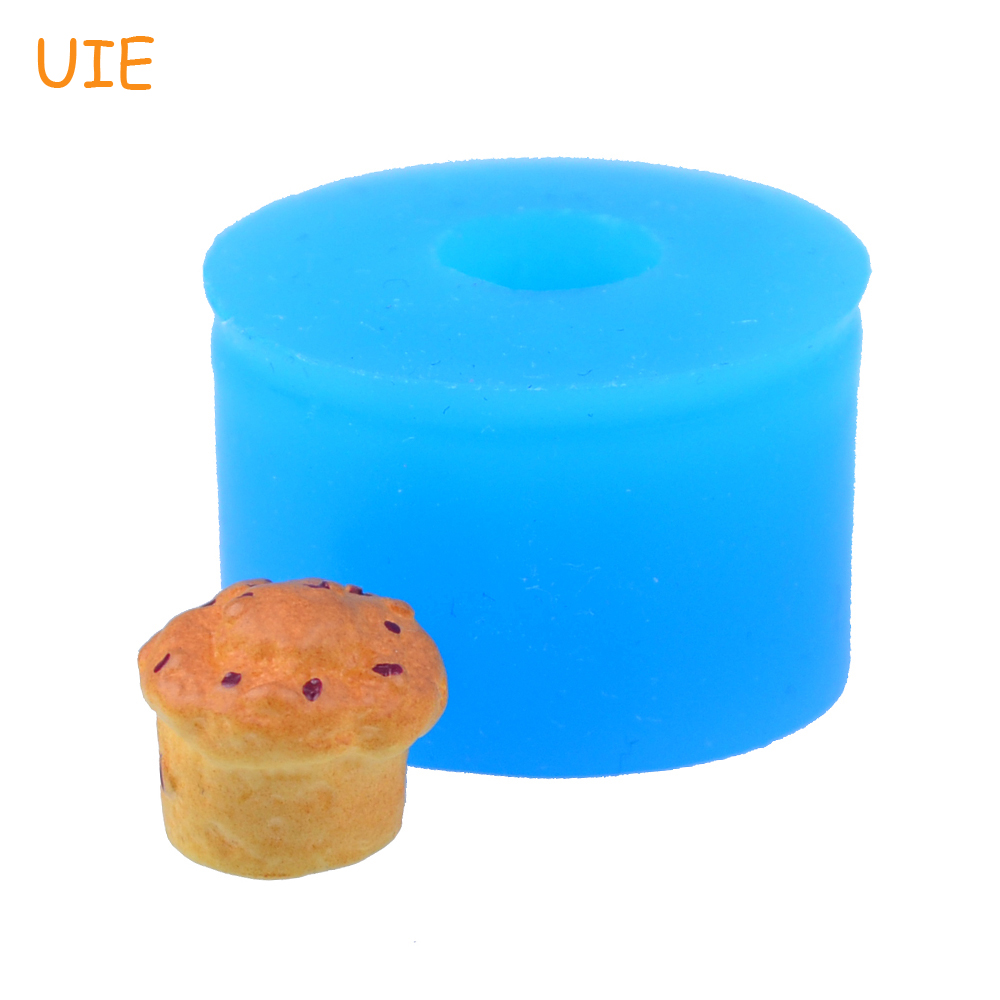 Fondant Cookie Biscuit Food Safe Gyl100u 12.5mm 3d Muffin Silicone Mold Chocolate Cupcake Mold Dessert Resin Fimo Clay