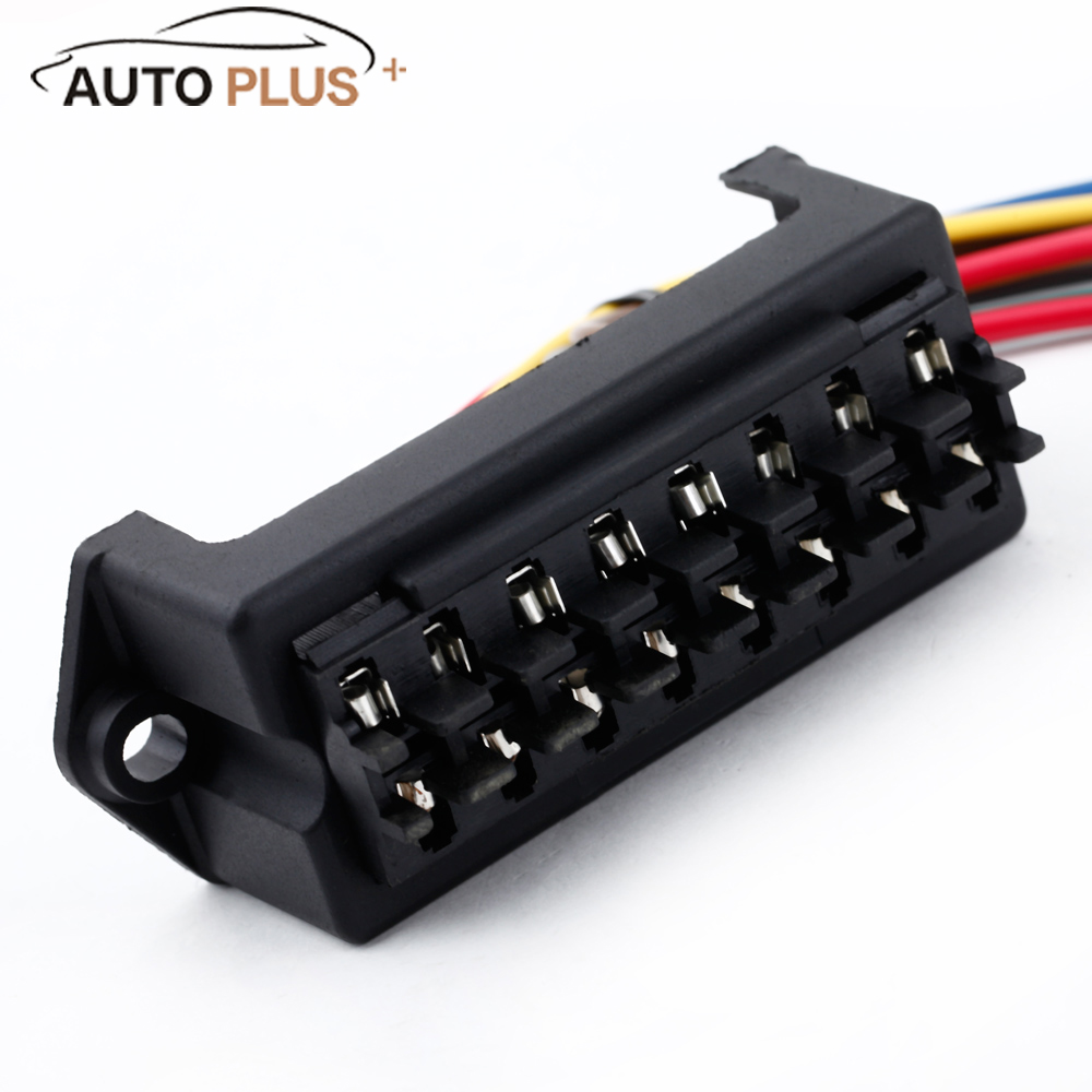 online get cheap car fuse box wiring aliexpress com alibaba group 8 way dc32v fuse holder circuit car trailer auto blade fuse box block holder atc ato 2 input 8 ouput wire
