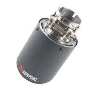 IN 48mm OD 76mm Matt Black Carbon Fiber Car Exhaust Muffler Pipe End Tips