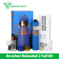 Original ATOM Revolver Reloaded 2 Kit  RR2 Mechanical 18650 Mod with Velocity style deck ATOM VAPES Revolve Electronic Cigarette