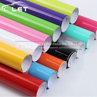 1.52x 30m/Roll Bright Glossy Vinyl Car Decal Wrap Sticker Black White Gloss Film Wrap Retail For HOOD Roof Motorcycle Scooter