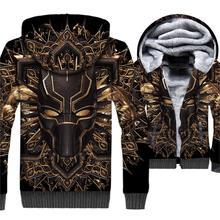 2019 winter brand clothing mans fashion 3D print hoodies Superhero Black panther jackets coats men tracksuits sweatshirts