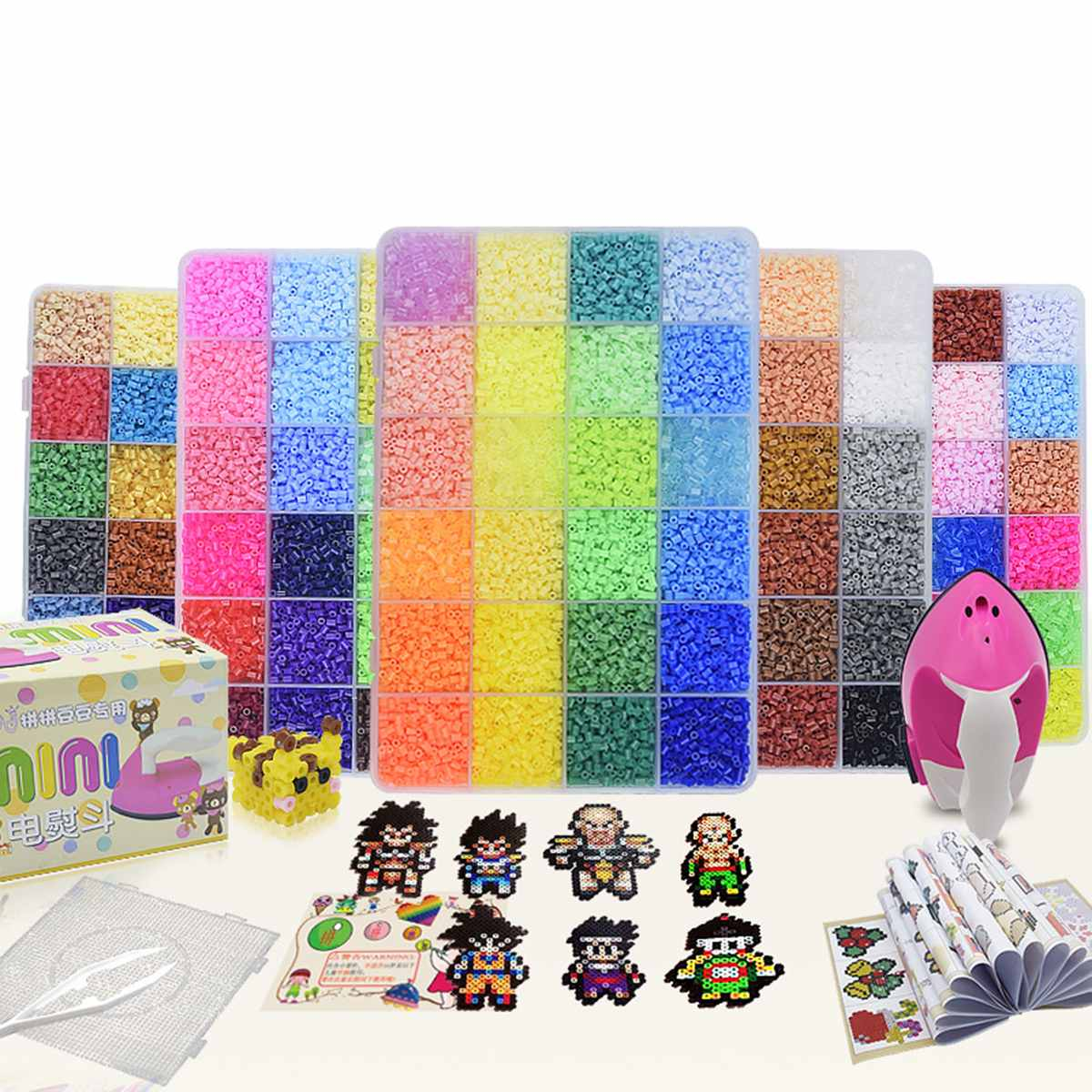 8000pcs 2.6mm EVA Hama Perler Beads Set Toy Kids Fun Craft DIY Handmaking Fuse Bead Multicolor Intelligence Educational Toys