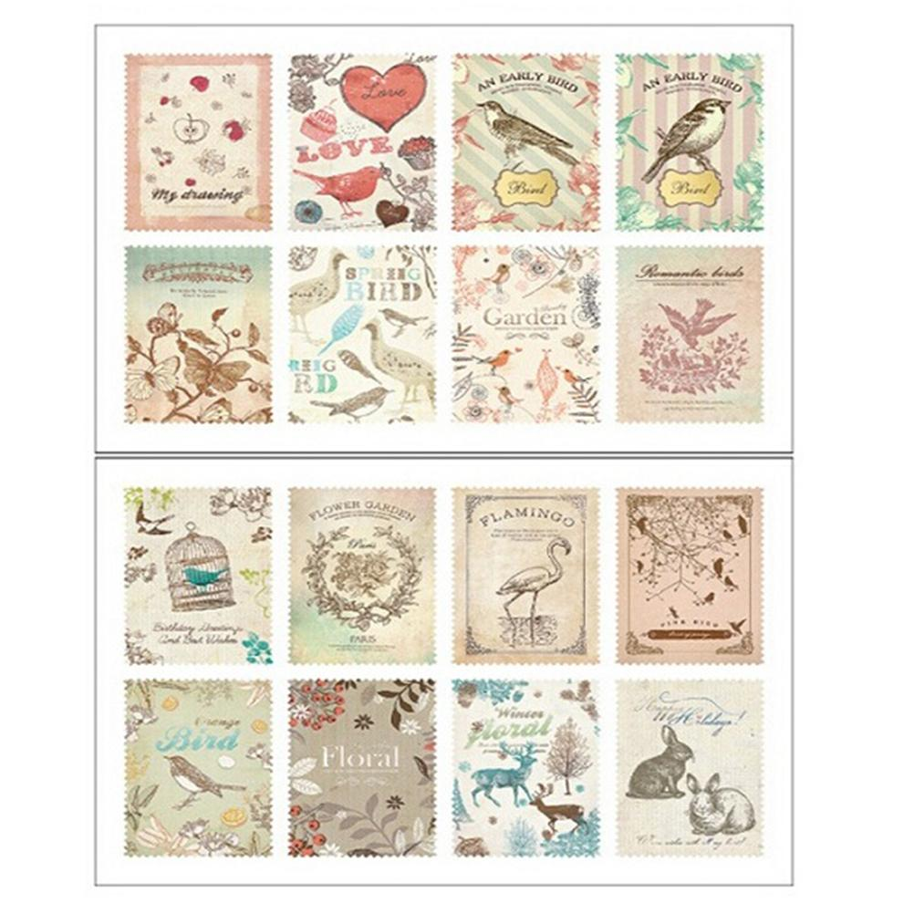 2Sheets Paper Stamp Sticker Memo Stickers Decoration Decal Diy Diary Album Scrapbooking Envelope Seal Stationery Toy For Kids