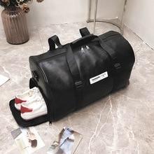 Горячая Распродажа Женская Мужская сумка унисекс дорожная сумка пляжная сумка через плечо сумка из ПУ большой емкости модная пара вещевой посылка