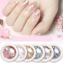 1 Box Nail Mermaid Glitter Vlokken Sparkly 3D Hexagon Kleurrijke Pailletten Spangles Polish Manicure Nagels Decoraties(China)