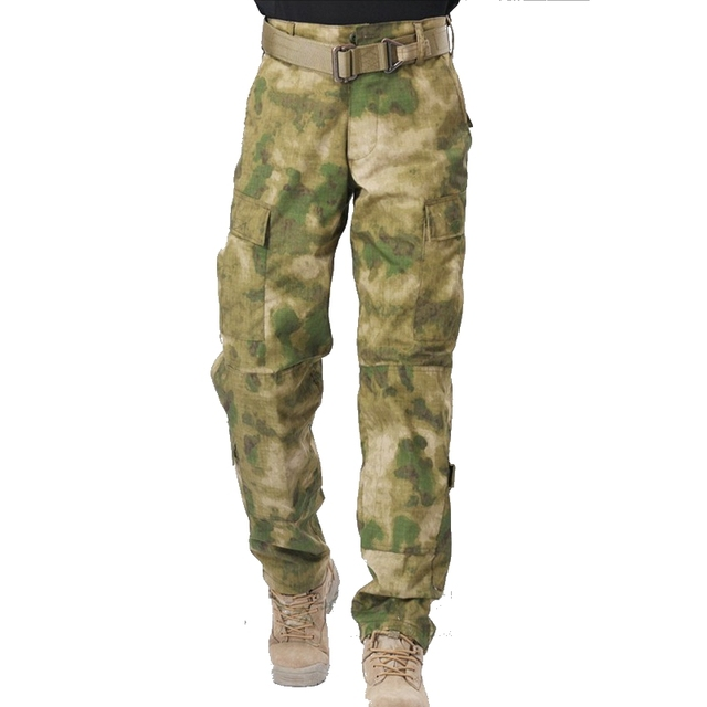 2086eebae3243 A-TACS FG Camouflage Hunting Clothes Long Cargo Pants Mens Tactical Combat  Airsoft Pants Trousers
