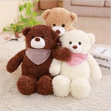 New Arrival Plush Toy Bear Wearing Scarf Stuffed Animal Teddy Bear Plush Doll Gift Toy стоимость