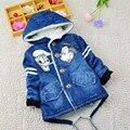 BibiCola boy abrigo de invierno con capucha de alta calidad niños wadded chaqueta/parkas ropa de bebé bebé de invierno con capucha prendas de vestir exteriores