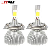 LEEPEE 2pcs High Low Beam C6 Series Head Light All In One H4 4400LM 12V 6000K