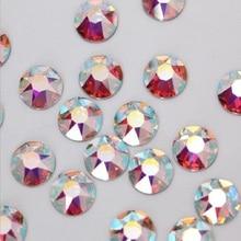 Профессиональный поставщик hot fix свободные плоские задние камни супер блестящие украшения для одежды, ss16 ab хрустальные камни Горячая распродажа
