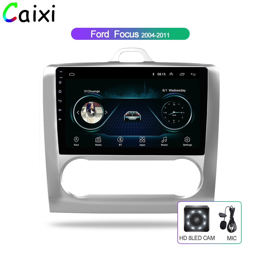 CAIXI 9'' 2.5D Android 8.1 Car Radio Multimedia Player For 2004 2005 2006 2011 Ford Focus Exi AT 2DIN Gps Navigation Car DVd-in Car Multimedia Player from Automobiles & Motorcycles    1
