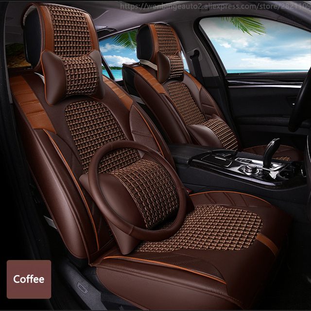 2a2ebde9619 High quality Leather car seat cover for Citroen All Models c4 c5 c2 c3  drain BLACK RED BEIGE BROWN automobiles accessories cover
