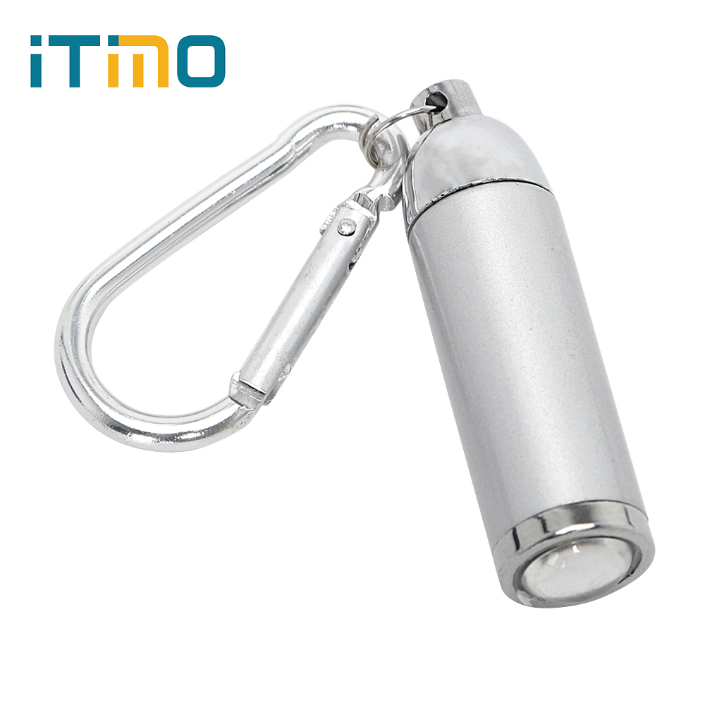 ITimo Mini LED Flashlight with Key Chain Telescopic Zoomable Penlight Portable Light Waterproof Torch Lamp for Camping Hiking