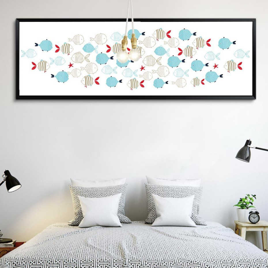 Modern Fish Canvas Paintings Nordic Minimalist Pop Art Posters Prints Wall Pictures for Living Room Bedrooms Home Decoration