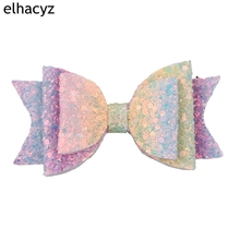1PC Retail 2019 New Shimmery Mermaid Hair Clips Glitter Sequin Bow For Girls Multi-layer Hair Accessories For Children Headwear