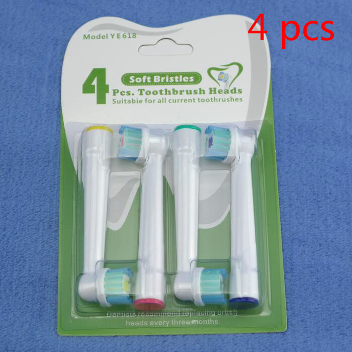 4x Brush Heads For Oral-B Electric Toothbrush Fit Advance Power/Pro Health/Triumph/3D Excel/Vitality Precision Clean/Dual Clean image