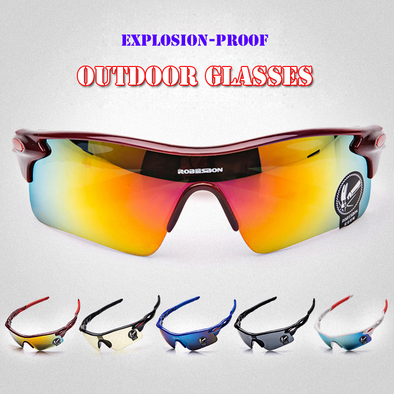 ROBESBON 5 Colors Men UV400 Protective Sports Eyewear MTB Bicycle Bike Sunglasses Women Riding Goggles Ciclismo