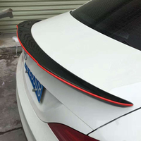 W205 C205 Coupe Modified FD Style Carbon Rear Red Line Trunk Luggage Compartment Spoiler Car Wing
