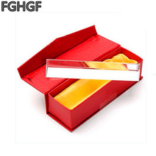 FGHGF 100*30*30 Physical Optical Prism 100 * 30 * 30mm Optical Experiment Rainbow Principle Science Experiment Triangular Prism 1pc 100mm optical glass four sides prism for optical experiment optics instruments rainbow principle research