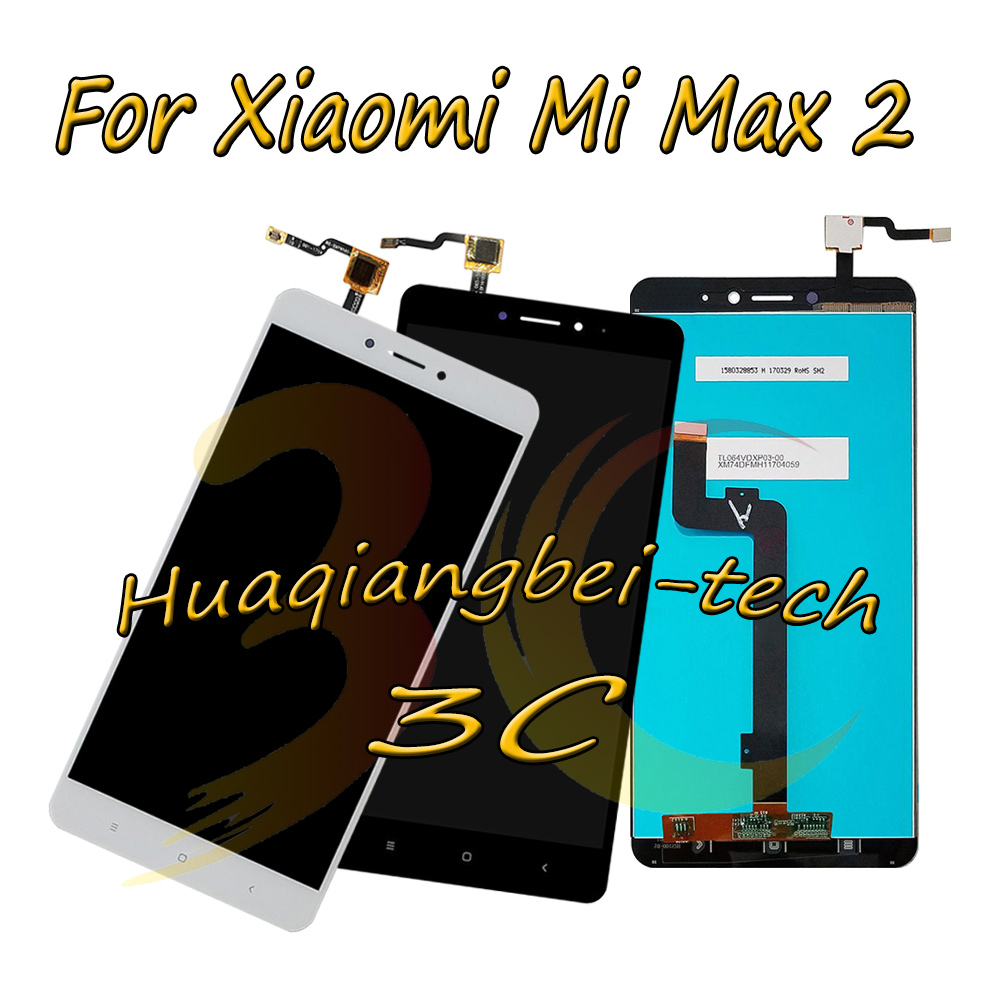 6.44'' New For Xiaomi Mi Max 2 MDE40 MDT4 Full LCD DIsplay + Touch Screen Digitizer Assembly Black / White 100% Tested