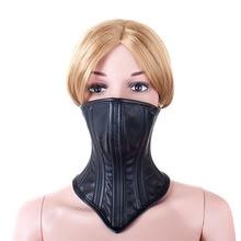 Fetish Bondage Mask PU Leather Sex Collar