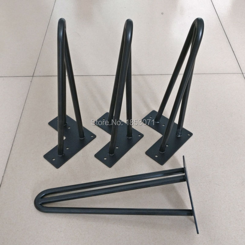 12 Haarnadel Beine Matte Black 3 Stangen Set Von 4 Metall