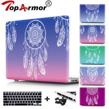 Цветной градиентный жесткий чехол для Macbook Air 11 Pro retina 12 13 15 ноутбук оболочка протектор для Macbook air 13 Чехол