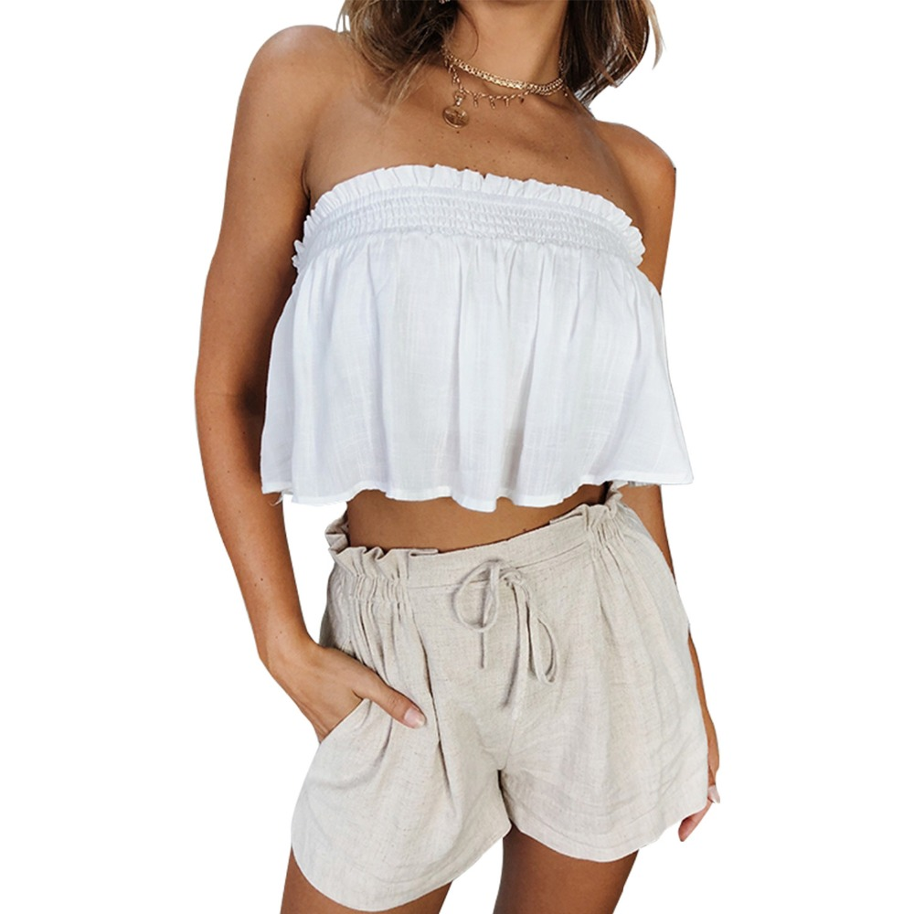Global Summer Hot New Fashion Loose Women Shorts Solid Color Casual Belt Wide Leg Sexy Thin