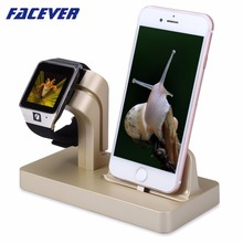 Facever Charging Stand For Apple Watch iWatch 42mm 38mm Cradle Holder Desktop Charger Stand For iPhone iPod Docking Station crested dock station stand for apple watch 4 3 2 1 iwatch 42mm 38mm aluminum holder charger charging cradle bracket high quality