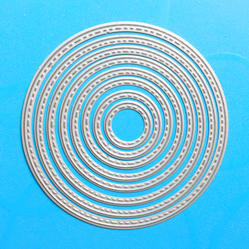 YLCD118 Round Circles Metal Cutting Dies For Scrapbooking Stencils DIY Cards Album Decoration Embossing Folder Die Cuts Template