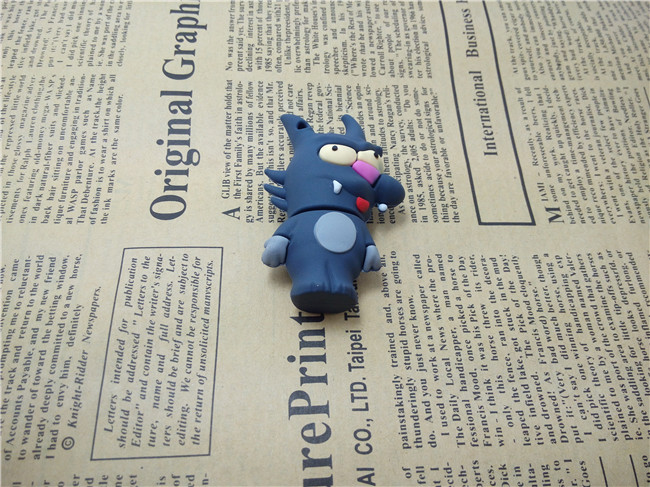 Usb Stick S931 Dark Blue Cartoon Wolf Pen Drive USB 2.0 Flash Drive Thumb Drive 128MB 256MB 1G 2G 4G-64G pen Drive Memory Card