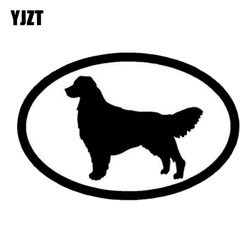 YJZT 15.2*10.1CM Retriever Golden Stylish Classic Motorcycle Car Decorative Accessories Cute Animal Stickers C6-1220